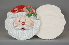 Father Christmas/Santa cookie plates.  Our own design.  http://www.countrylovecrafts.com/product_item.php?supplier_code=BISQ01_id=31931
