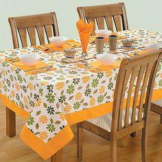 Cosmos Printed Rectangular Table-Linen 5203