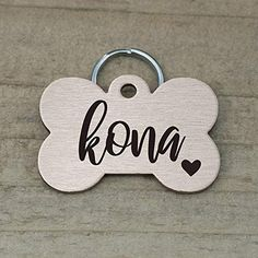 Amazon.com : Stainless Steel Pet ID Tags, Personalized Dog Tag and Cat Tag, Gold, Rose Gold, and Silver, up to 5 Lines of Custom Text, Engraved on Both Sides, in Round, Bone, Diamond, and More (Heart) : Pet Supplies Cat Tags, Pet Id Tags, Personalized Dog Tags, Cute Box, Pet Names, Love Design, Really Cool Stuff, Pet Supplies, Your Pet