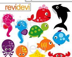 Under the Sea clipart cute sea animals sea clip art
