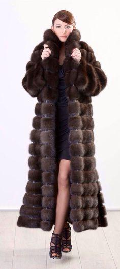 Russian Barguzin Sable Fur Coat