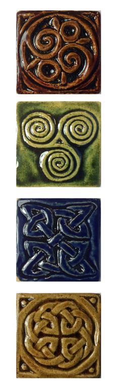 """Stoneware 2"""" accent 'wee' tile collection."""
