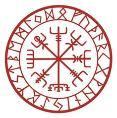 Viking Schutz Runen Vegvisir Kompass Talisman schwarzen Vinyl-Aufkleber This rune is known as Vegvis Viking Symbols, Viking Art, Rune Symbols, Band Tattoos, Body Art Tattoos, Maori Tattoos, Bussola Viking, Viking Protection Rune, Protection Tattoo