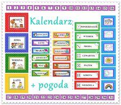 Boberkowy World : Starter nauczyciela przedszkola: Kalendarz / kalendarz pogody- pliki do wydruku