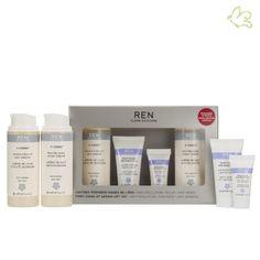 """REN Skincare - Coffret """"Premiers Signes de l'Âge"""" Une sélection de 5 soins REN Skincare aux actifs clean, cliniquement prouvés et issus des dernières recherches biotechnologiques sur le stress oxydatif, pour combattre les premiers signes de l'âge et préserver la jeunesse, l'éclat et la vitalité de la peau. 60€ #soinvisage #antiage #RENskincare #antiaging #eclat #healthy #peaumature #coffret #giftset #encens #vcense www.officina-paris.fr"""