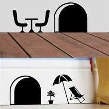 3D Funny Cartoon Mouse Hole Wall Stickers For Decorative Removable Wall Murals