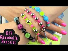 DIY Shamballa Bracelet! How To Make Macrame Bracelets, My Crafts and DIY Projects