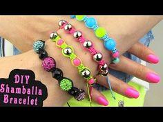 DIY Shamballa Bracelet! How To Make Macrame Bracelets - YouTube