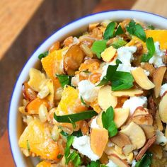 Butternut Squash Salad with Toasted Almonds and Goat Cheese - The Lemon Bowl