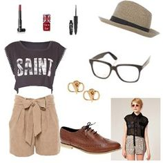 Such a cute outfit! I wish I could find high waisted shorts!