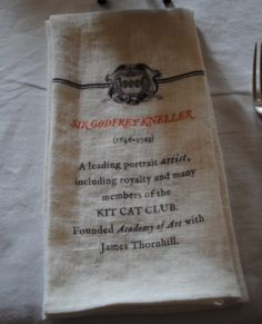 Hanbury Hall Dining Room napkin