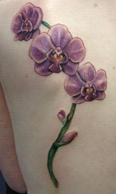 I ♥ Orchids! This is Similar To What I Want Up The Middle Of My Back, Just Different Colors and More Detail.