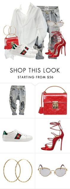 """Untitled #3808"" by xirix ❤ liked on Polyvore featuring OneTeaspoon, Louis Vuitton, Gucci, Dsquared2, Pernille Corydon and Jean-Paul Gaultier"