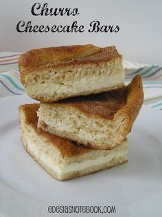 6/23/2013: Churro Cheesecake Bars-Delicious and easy. The perfect compliment to a taco dinner. I did not buy seamless crescent rolls. The regular crescent rolls work just fine.