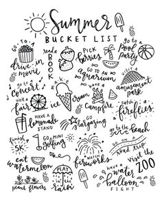 Summer Bucket List Free Printable Coloring Page - Pineapple Paper Co. Summer Bucket List Free Printable Coloring Page that is PERFECT for kids and families to plan all of their summer bucket list ideas available at Pineapple Paper Co. Summer Fun List, Summer Bucket, Summer Kids, Summer Goals, Free Summer, Cliffs Of Moher Ireland, Bellet Journal, Bucket List For Teens, Summer Coloring Pages