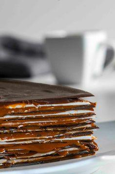 Capa chocolate y manjar