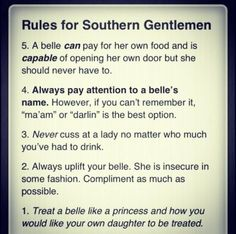 ANY gentlemen. REAL Men should already know this crap. And I say Thank you! to all the non-arsehole-non-pig MEN out there! :) You're giving me hope for the future!