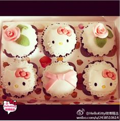 Hello Kitty cakes, love them all