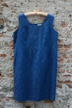 Blauwe jaren 60 jurk