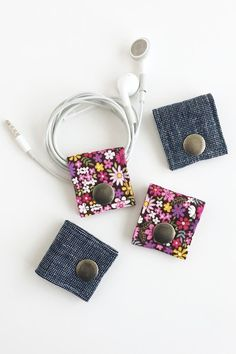 Great Cost-Free small Sewing projects Tips Cord Keepers PDF Sewing Pattern Small Sewing Projects, Sewing Projects For Beginners, Sewing Hacks, Sewing Tutorials, Sewing Crafts, Sewing Tips, Scrap Fabric Projects, Sewing Patterns Free, Free Sewing