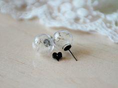 1pair 16MM Real Flower Dandelion Seed earring - Make A Wish Dandelion Seed earring
