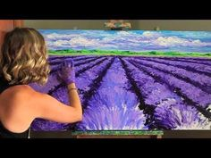 Artists On Demand: Kimberly Adams, finger painting w/ oils