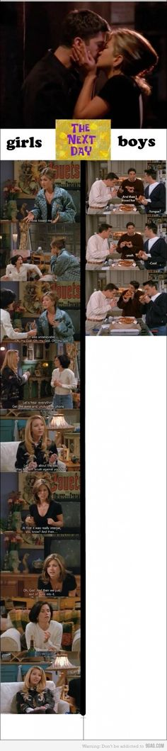 Love it. And Ross and Rachel belong together.