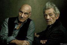 Sir Ian McKellen and Sir Patrick Stewart in Repertory   Vanity Fair