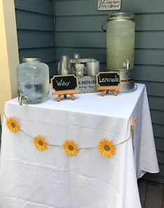 These super cute sunflowers are a great, inexpensive way to decorate your party space!! Perfect for bridal showers, baby showers, weddings, parties and more! Choose 6 foot or 10 foot lengths to decorate your walls, tables, or any other space you like! These card stock sunflowers come