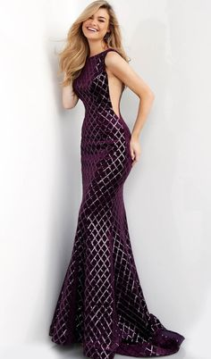 Heads will turn when you arrive in the glamourous Bateau Neck Sequin Embellished Velvet Prom Dress from Jovani. Long Mermaid Dress, Mermaid Dresses, Prom Dresses, Tall Dresses, Tight Dresses, Wedding Dresses, Sexy Dresses, Casual Dresses, Summer Dresses