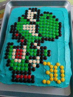 Iain's 30th birthday 8-bit Yoshi cake :)