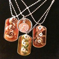 More alcohol inked dog tag washer necklaces :)