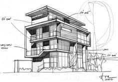 F2 Villa by Dang Duc Hoa-Block Architects Sketch