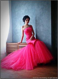 """I'm not a one in a million kind of girl.  I'm a ONCE in a LIFETIME kind of WOMAN."" #wedding #gowns #dresses #bridal #pink #love #romance #trendy #modern www.lunewedding.com"