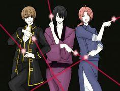 Gintama . 170 cm trio . Okita Sougo . Kamui . Takasugi Shinsuke .