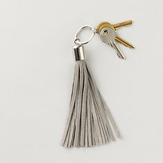 Suede Tassel Keyring | The White Company
