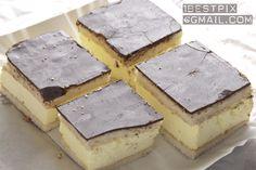 cream cake with chocolate glaze