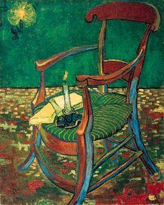 "Vincent Van Gogh. ""Gaugin's Chair,"" 1888. Oil on canvas. Van Gogh Museum, Amsterdam."