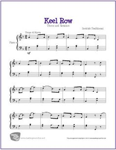 Keel Row | Free Sheet Music for Piano - MakingMusicFun.net