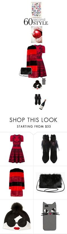 """""""You will not ask me for dinner with family again!"""" by no-where-girl ❤ liked on Polyvore featuring Alexander McQueen, AINEA, Torrid, Alice + Olivia, Lulu Guinness and familydinner"""