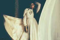 vintage white anarkali.  photo: Dhruv Singh
