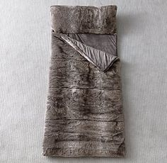 Luxe Faux Fur Sleeping Bag - if i have to be camping, it may as well be cozy