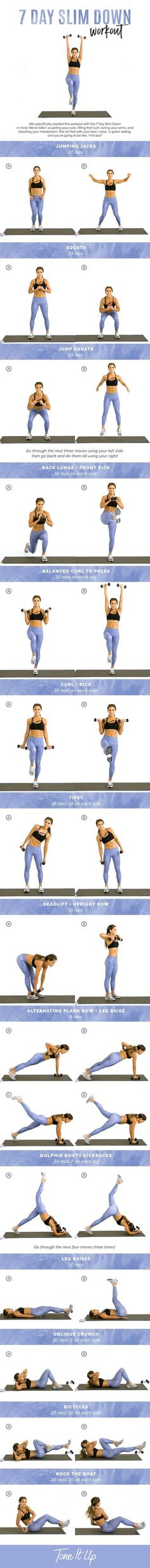 Tone It Up 7 Day Slim Down Workout!