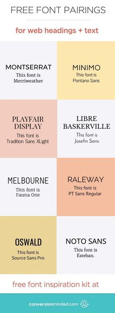 Free Fonts and Font Pairings for Blog Images and Social Media | Get my complete font inspiration kit here – it's a great resource when you're looking for new fonts! font combinations free, font pairings free, brand font ideas #freefonts #blogging