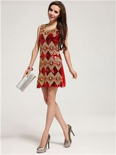 Round Neck Sleeveless Sequined Tight Fashion Dress