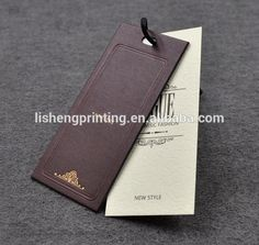 Source custom branded paper hang tags and fashion tag on m.alibaba.com