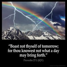 Proverbs 27:1 Inspirational Image