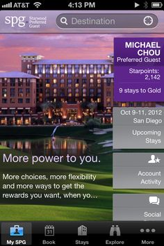 SPG iPhone application