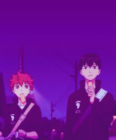 Hinata & Kageyama | Haikyuu!! | Anime | (gif)