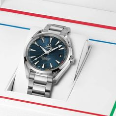 """Two years until the Olympic Winter Games reach South Korea! In the meantime we're counting down in style, with the OMEGA Seamaster Aqua Terra """"PyeongChang 2018"""" Limited Edition. omegawatches.com/52210422103001 #PyeongChang2018 Men Are From Mars, Seamaster Aqua Terra, Omega Seamaster, Stylish Men, Omega Watch, Watches For Men, Steel, Winter Games, South Korea"""